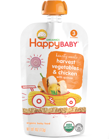 Happy Baby Organic Baby Food Stage 3 Harvest Vegetables & Chicken with Quinoa -- 4 oz
