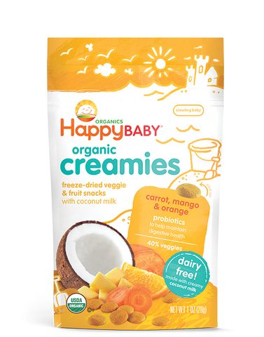 Happy Baby Happy Coconut Creamies Organic Superfoods Carrot Mango and Orange -- 1 oz