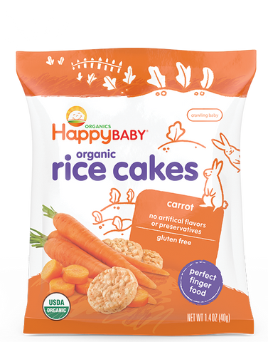 Happy Baby Happy Munchies Organic Rice Cakes Carrot -- 1.41 oz
