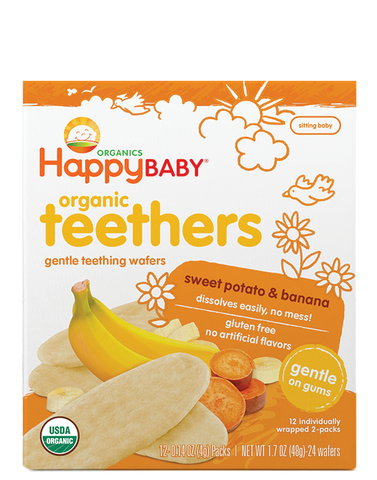 Happy Baby Organic Baby Food Gentle Teethers Banana & Sweet Potato -- 1.7 oz