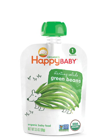 Happy Baby Organic Baby Food Stage 1 Green Beans -- 3.5 oz