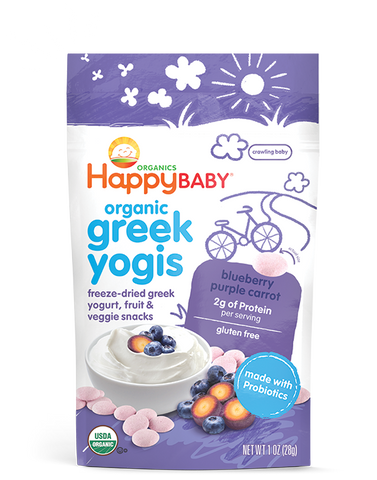 Happy Baby happyyogis Organic Superfoods Yogurt & Fruit Snack Blueberry & Purple Carrot -- 1 oz