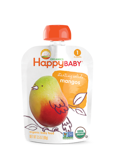 Happy Baby Organic Baby Food Stage 1 Fresh Mango -- 3.5 oz