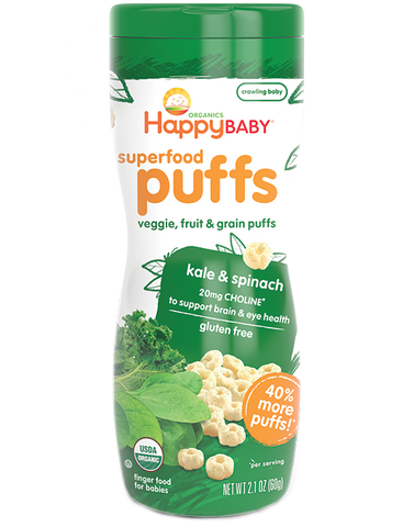 Happy Baby Organic Superfood Puffs Greens -- 2.1 oz