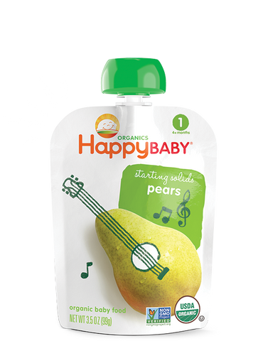 Happy Baby Organic Baby Food Stage 1 Pear -- 3.5 oz