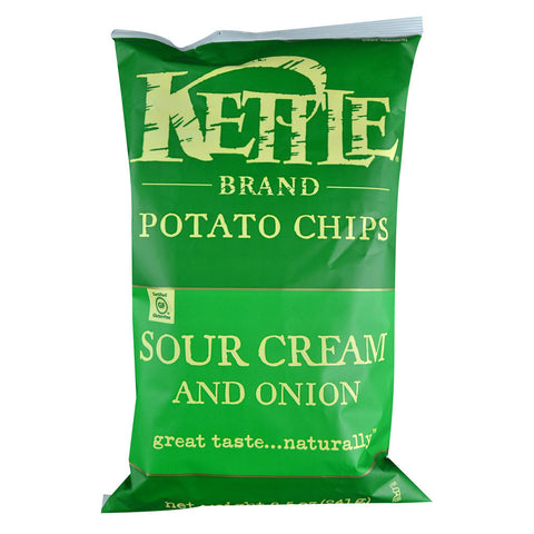 Kettle Foods Krinkle Cut Potato Chips Sour Cream and Onion -- 8.5 oz