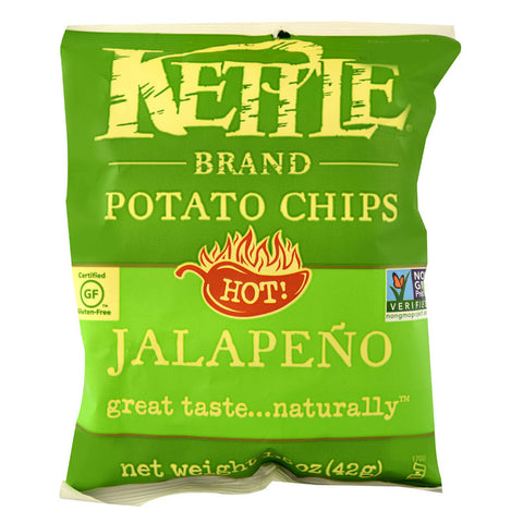Kettle Foods Potato Chips Jalapeno -- 1.5 oz