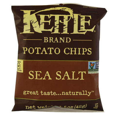 Kettle Foods Potato Chips Sea Salt -- 1.5 oz