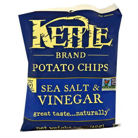 Kettle Foods Potato Chips Sea Salt & Vinegar -- 1.5 oz