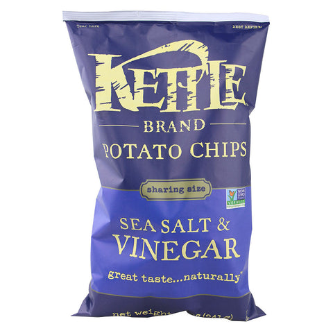 Kettle Foods Potato Chips Sea Salt and Vinegar -- 8.5 oz