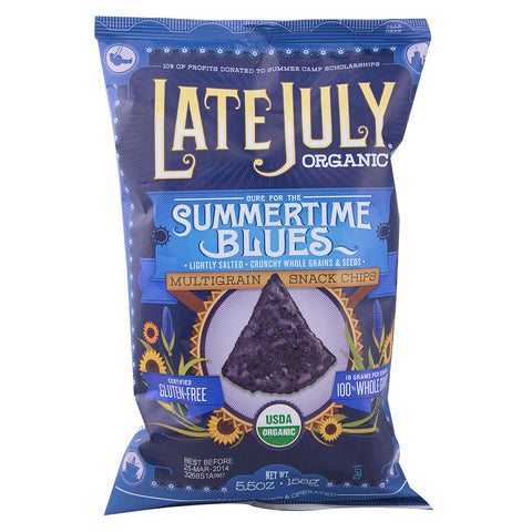 Late July Snacks Organic Multigrain Snack Chips Gluten Free Summertime Blues -- 5.5 oz