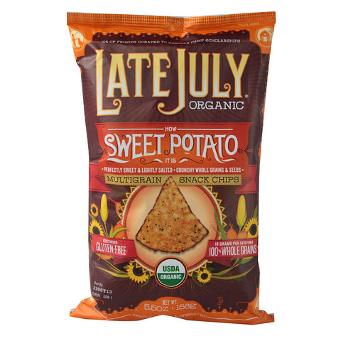 Late July Snacks Organic Multigrain Snack Chips Gluten Free Sweet Potato -- 5.5 oz