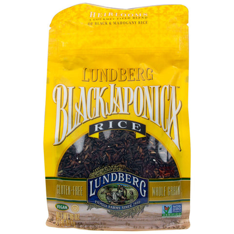 Lundberg Black and Mahogany Rice Black Japonica  -- 1 lb