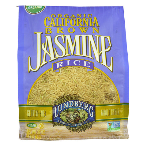 Lundberg Organic California Brown Jasmine Rice -- 2 lbs