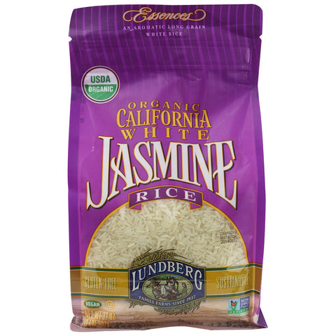 Lundberg Organic California White Jasmine Rice -- 32 oz