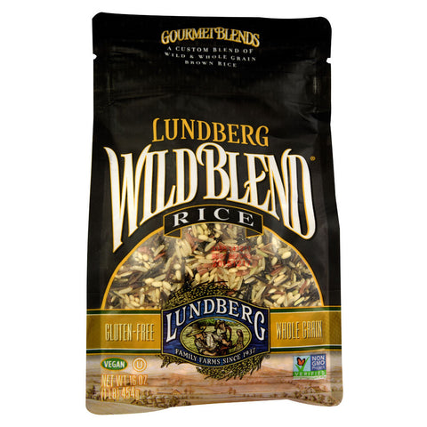 Lundberg Wild Blend Wild and Whole Grain Brown Rice -- 1 lb