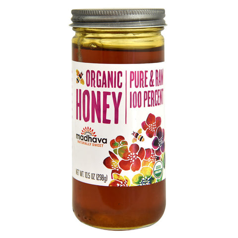 Madhava Organic Pure & Raw Honey -- 10.5 oz