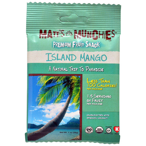 Matt's Munchies Premium Fruit Snack Island Mango -- 1 oz