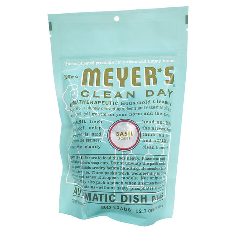 Mrs. Meyer's Clean Day Automatic Dish Packs Basil -- 20 Packs