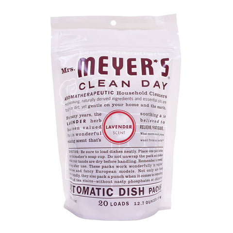Mrs. Meyer's Clean Day Automatic Dish Packs Lavender -- 20 Packs