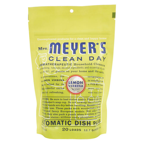 Mrs. Meyer's Clean Day Automatic Dish Packs Lemon Verbena -- 20 Packs
