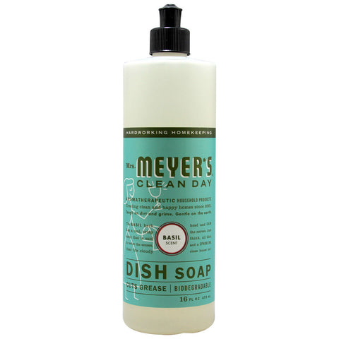 Mrs. Meyer's Clean Day Liquid Dish Soap Basil -- 16 fl oz