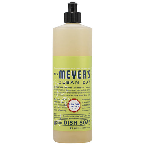 Mrs. Meyer's Clean Day Liquid Dish Soap Lemon Verbena -- 16 fl oz