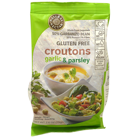 Natural Nectar Gluten Free Croutons Garlic & Parsley -- 2.6 oz