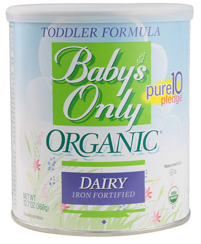 Nature's One Baby's Only Organic Dairy Iron Fortified Toddler Formula -- 12.7 oz