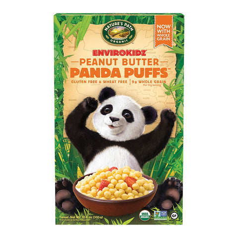 Nature's Path EnviroKidz Organic Panda Puffs Cereal Peanut Butter -- 10.6 oz