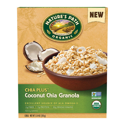 Nature's Path Organic Chia Plus Granola Cereal Coconut Chia -- 12.34 oz
