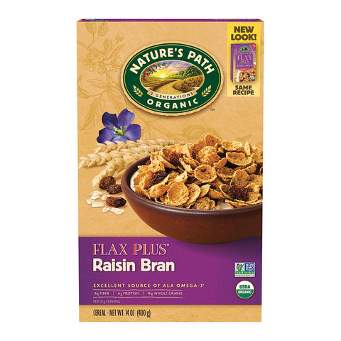 Nature's Path Organic Flax Plus Cereal Raisin Bran -- 14 oz