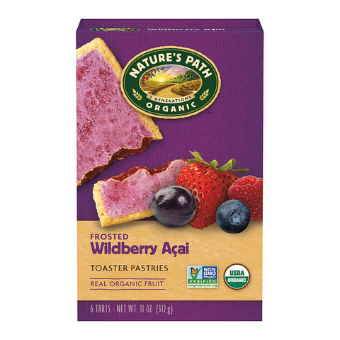 Nature's Path Organic Frosted Toaster Pastries Wildberry -- 6 Bars