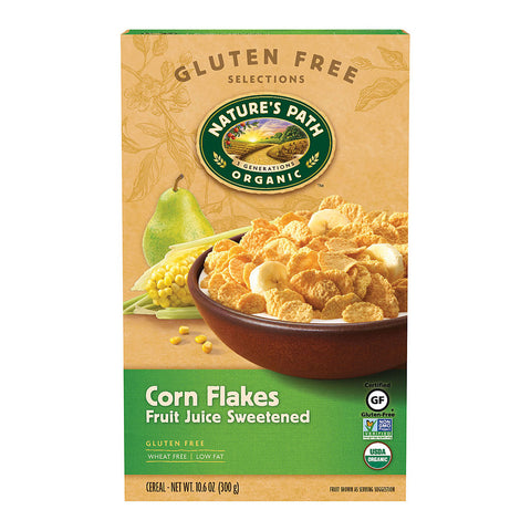 Nature's Path Organic Gluten Free Corn Flakes Fruit Juice Sweetened -- 10.6 oz