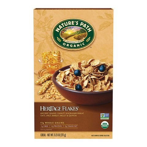 Nature's Path Organic Heritage Heirloom Whole Grain Flake Cereal -- 13.25 oz