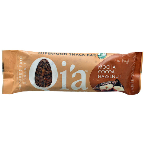 Nature's Path Organic Qia Superfood Snack Bar Mocha Cocoa Hazelnut -- 1.3 oz