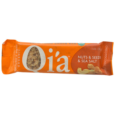 Nature's Path Organic Qia Superfood Snack Bar Nuts, Seeds & Sea Salt -- 1.3 oz
