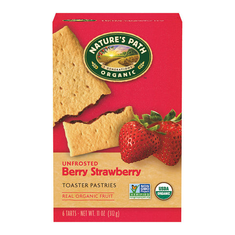 Nature's Path Organic Toaster Pastries Strawberry -- 6 Bars