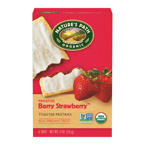 Nature's Path Organic Toaster Pastries Strawberry Frosted -- 11 oz