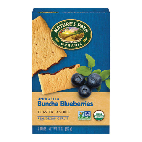 Nature's Path Organic Toaster Pastries Unfrosted Blueberry -- 11 oz