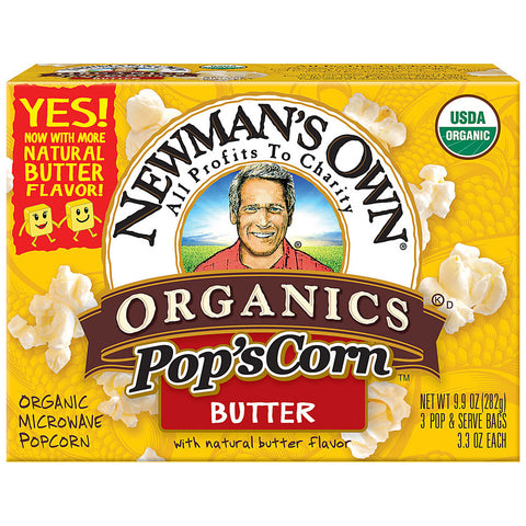 Newman's Own Organics Pop's Corn Butter -- 3.3 oz