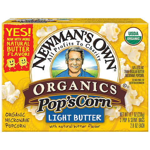 Newman's Own Organics Pop's Corn Light Butter -- 2.8 oz