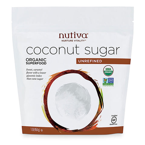 Nutiva Organic Coconut Sugar Unrefined -- 1 lb