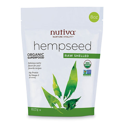 Nutiva Organic Raw Shelled Hempseed -- 8 oz