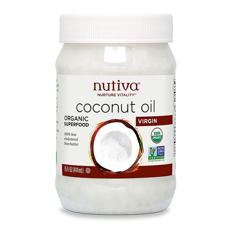 Nutiva Organic Virgin Coconut Oil -- 15 fl oz
