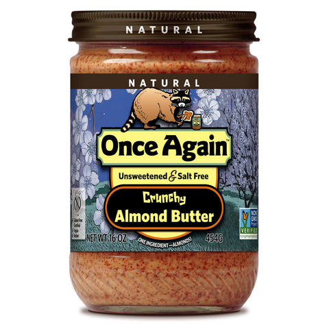 Once Again Natural Almond Butter Salt Free Crunchy -- 16 oz
