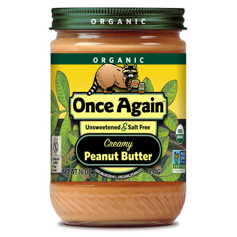 Once Again Organic Peanut Butter Creamy No Salt -- 16 oz