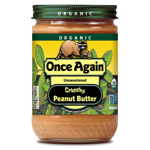 Once Again Organic Peanut Butter Crunchy -- 16 oz