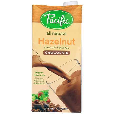 Pacific Natural Foods Hazelnut Non-Dairy Beverage Chocolate -- 32 fl oz