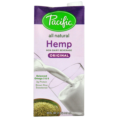 Pacific Natural Foods Hemp Non-Dairy Beverage Original -- 32 fl oz